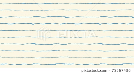 Grunge seamless pattern with stripes hand drawn with oil pastel crayon 75367486