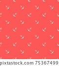 Nautical seamless pattern with geometric ship anchors 75367499