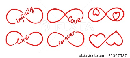 Infinity symbols with words love, infinity, forever 75367587