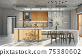 modern kitchen interior 75380602
