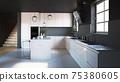 modern kitchen interior 75380605