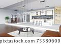 modern living interior 75380609