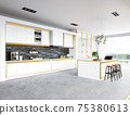 modern kitchen interior 75380613