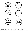 Vector icons of emoticons, with different images. For design 75395101