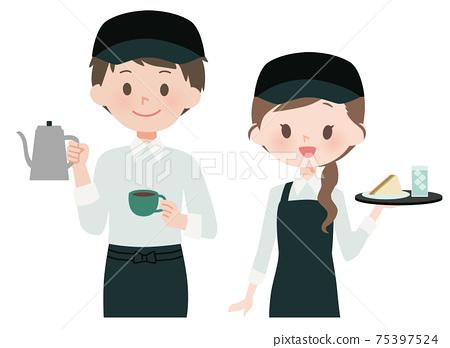 카페 직원 · 배리스터의 남녀 75397524