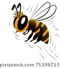 cartoon bee on a white background 75399713