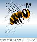 cartoon bee on a white background 75399725