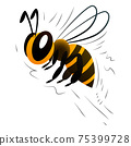 cartoon bee on a white background 75399728