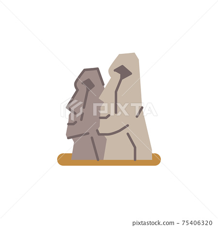 Easter Island landmark. 75406320