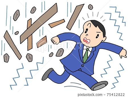 Earthquake / dangerous goods fall 75412822
