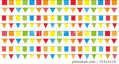 多彩連續旗,旗幟材料 75414219
