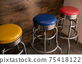 Colorful traffic light colored chairs 75418122