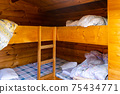 Log house bunk bed 75434771