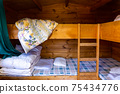 Log house bunk bed 75434776
