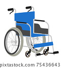 Illustration of a wheelchair 75436643