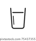 Glass of water Vector icon 75437355