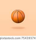 Basketball Ball on Orange Background 75439374