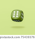 Always Winner Dice on Green Background 75439376