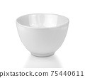 White bowl isolated on white background 75440611