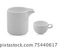 White tea glass on white background 75440617