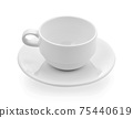 Coffee mug on white background 75440619
