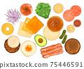 Hamburger ingredients 75446591