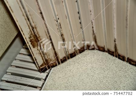 목욕 뚜껑에 붙어 버린 검은 곰팡이 75447702