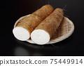 Cut long potatoes 75449914