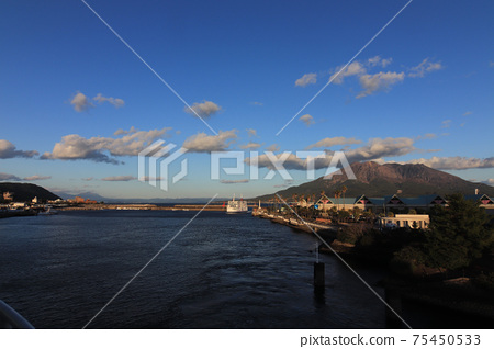 Sakurajima seen from the ferry 75450533