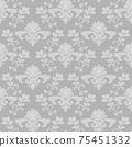 Intertwined damask floral seamless pattern gray wallpaper 75451332