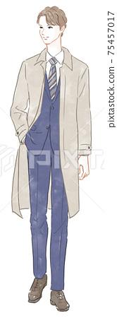 Men wearing coats 75457017
