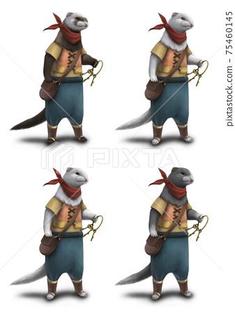 狡猾的野狼人,其職業是小偷4種顏色的外套 75460145