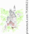 世界遺產城市景觀,新天鵝堡德國 75460621