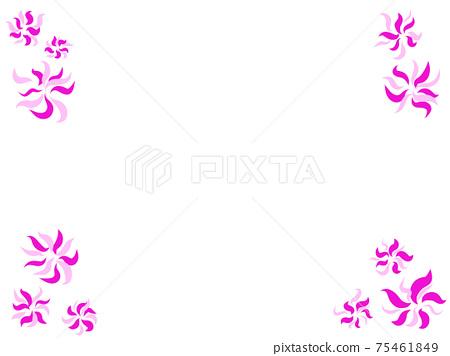Flower style pattern 75461849