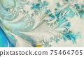 Abstract patterns watercolor painting background 75464765