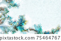 Abstract watercolor background with copy space 75464767