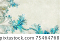 Watercolor patterns background with copy space 75464768