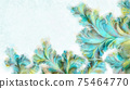 Digital art watercolor patterns with copy space 75464770