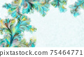 Abstract watercolor patterns with copy space 75464771