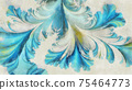 Abstract tracery watercolor painting background 75464773