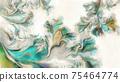 Abstract surreal shapes digital watercolor artwork 75464774