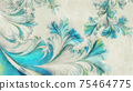 Abstract frost pattern digital watercolor painting 75464775