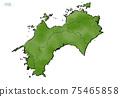 日本四國地區的日式地圖 75465858