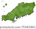 日本中國地區的日式地圖 75465861