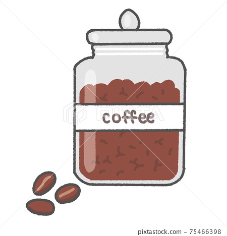 Coffee beans and canister 75466398