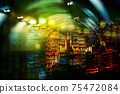 blur green blue light and index number of stock market business  abstract background 75472084