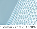 pastel blue geometric architecture building abstract background 75472092