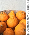 Japanese citrus orange  fruits name Dekopon in basket. 75480523