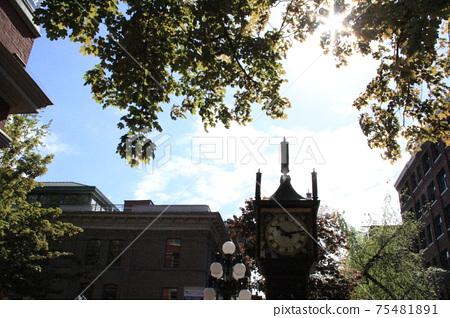 Blue sky in gastown 75481891