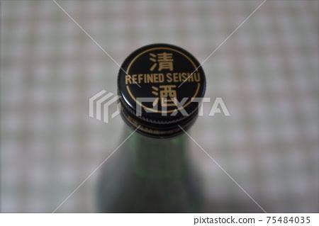 일본 술 캡 클로즈업 75484035